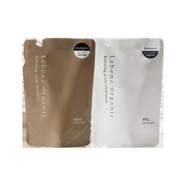 【セット】Refining scalp shampoo&treatment 詰め替え