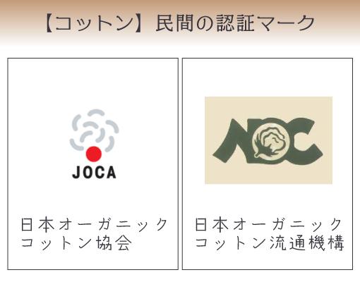 オーガニックコットン日本の認証マークは2つ