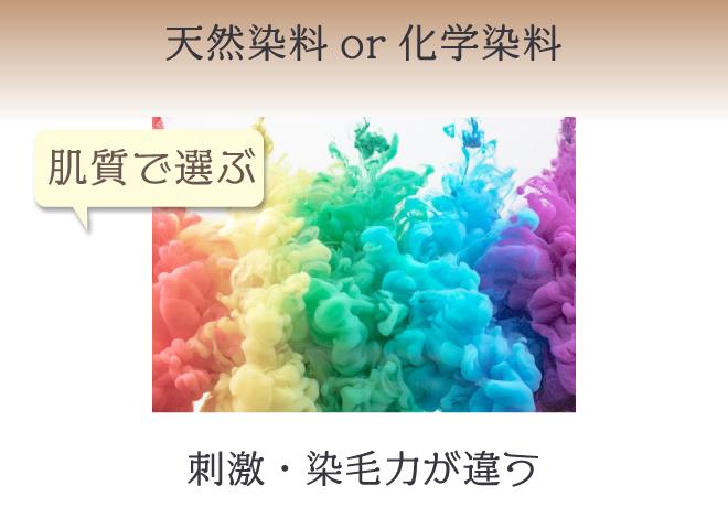 染料は肌質・染毛力に合わせて選ぶ