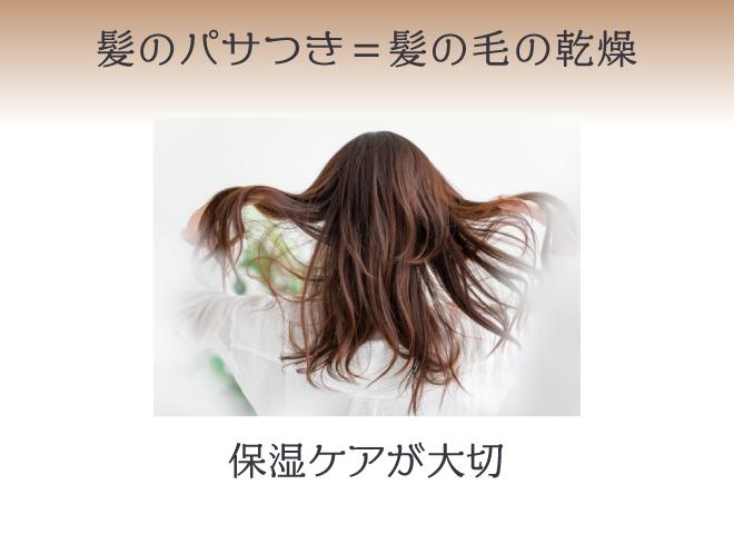 髪がパサパサするのは髪の毛が乾燥しているから。保湿ケアが大切