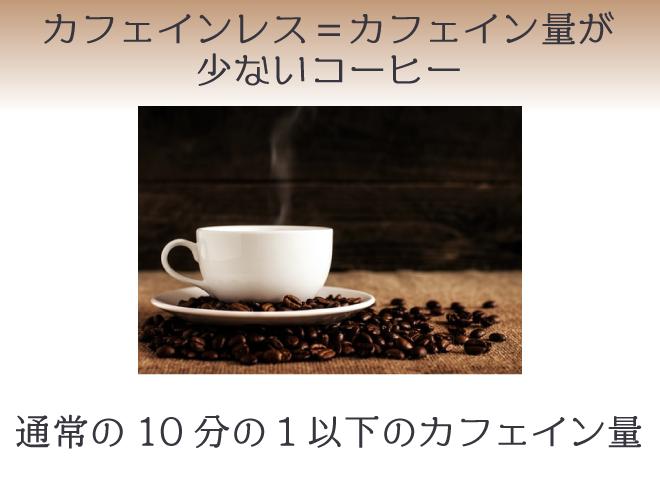 カフェインレスコーヒーでも微量のカフェインは入っている