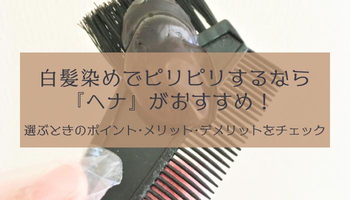 白髪染めにおすすめの「ヘナカラー」とは?効果や使い方、注意点を詳しく解説アイキャッチ