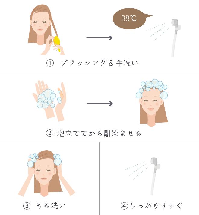 ブリーチ後の髪の洗い方