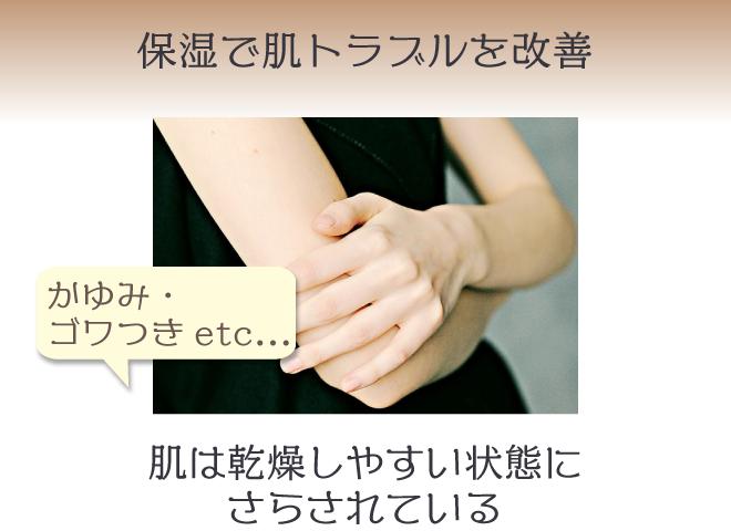 保湿ケアがかゆみ・ごわつきなど肌トラブル改善のカギ